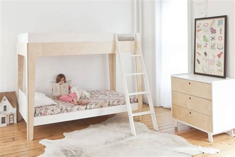 Modern Design Bunk Beds Contemporary Bunk Bed White And Birch By Nubie Modern Boutique Notonthehighstreet