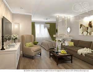 дизайн гостиная спальня в фотографиях