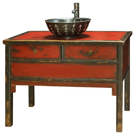 red zen vanity cabinet asian bathroom vanities and