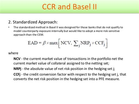 Counterparty Credit Risk Formula counterparty credit risk general review