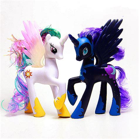 Mainan Figure Litle Pony toys twilight sparkle princess celestia rainbow