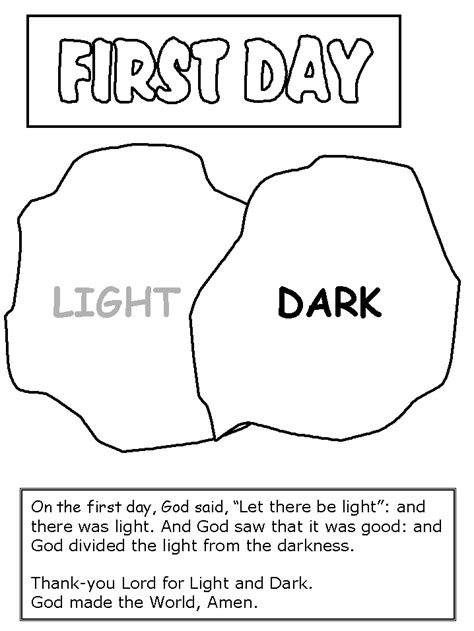 printable coloring pages for the first day of school in the beginning god created coloring pages coloring home