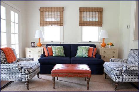 navy and orange living room navy sofa fabric on chairs living room makeover navy orange and interiors