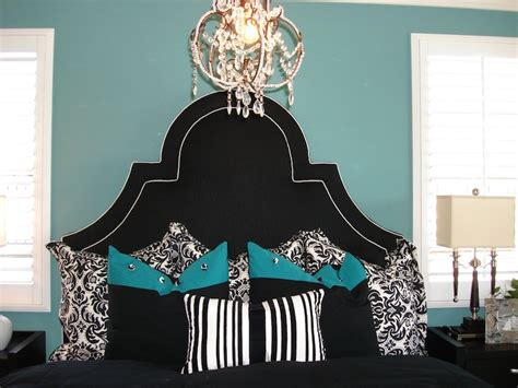 aqua black and white bedroom black and turquoise bedroom panda s house