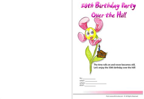 Free Printable Surprise 50th Birthday Invitation Printable 50 Template