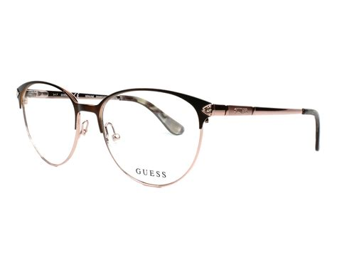 Guess S guess eyeglasses gu 2633 s 049 brown visionet