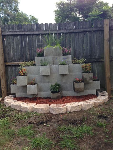 Cinder Block Garden Wall Our Newest Addition To The Concrete Blocks For Garden Walls