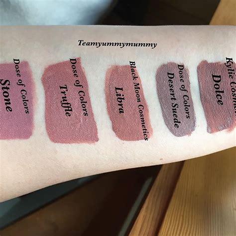 Dose Of Colours Liquid Lipstick In Black Dose Of Colors Truffle Liquid Lipstick Dupes