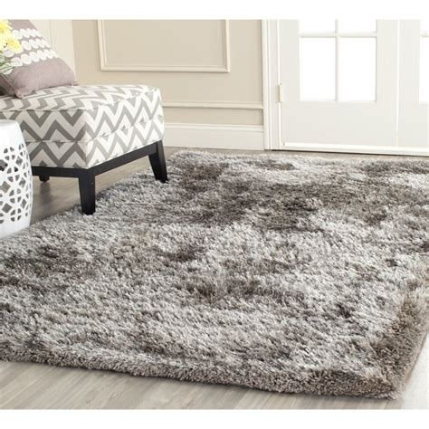 Safavieh Shag Rugs by Safavieh Handmade South Shag Silver Polyester Rug 5