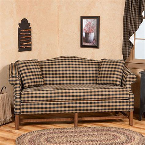 buffalo check sofa camelback sofa in buffalo check fabric primitive