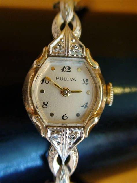 bulova antique swiss vtg 1953 10k gold rgp
