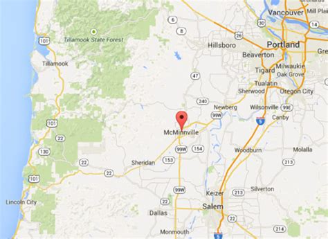 map 99w oregon location mcminnville business