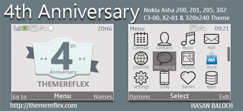 nokia c3 themes with media player skin special series 4th anniversary of themereflex themes