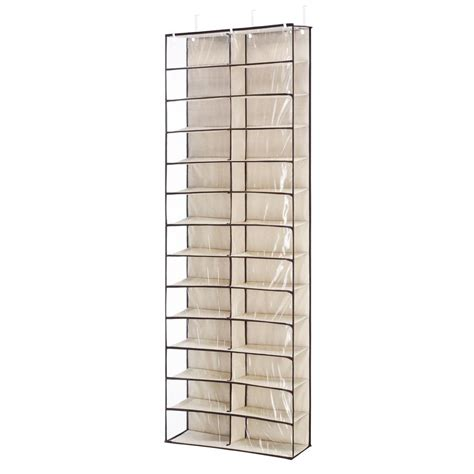 door shoe whitmor 26 pair over the door shoe shelf in beige 64704457