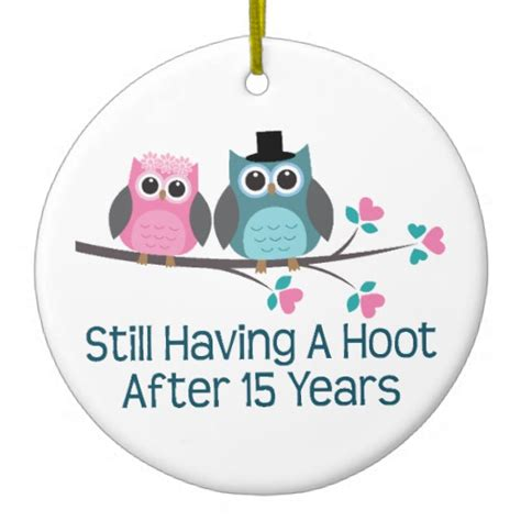 15 anniversary gift gift for 15th wedding anniversary hoot sided