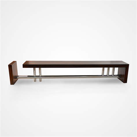 bench l rotsen l bench reclaimed canela wood and stainless steel
