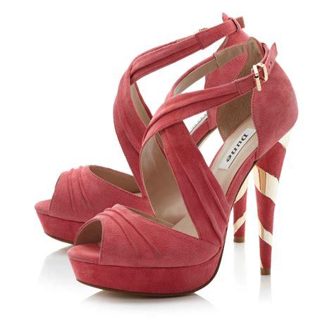 pink platform sandals dune pink helix cork platform sandals lyst
