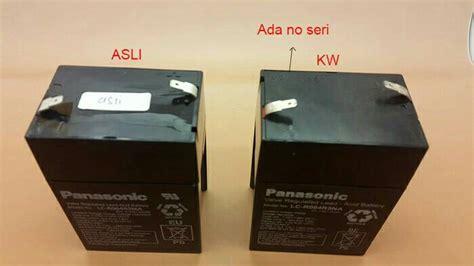 Aki Accu Baterai Kering 6v 45ah20hr Panasonic jual asli original aki kering accu kering 6v 6 v 6volt 6 volt panasonic dwi electronic
