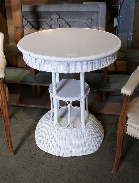 white wicker sofa table antique white wicker cocktail table salvage one
