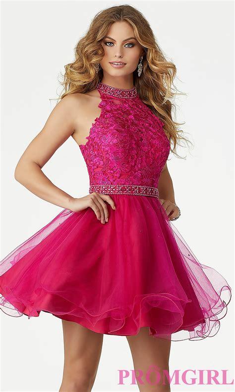 Pink Dress mori fuchsia pink homecoming dress promgirl