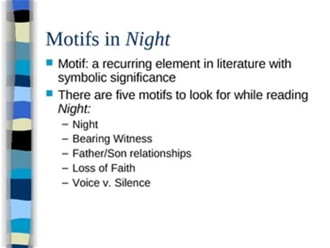 theme quotes from night by elie wiesel themes and motifs in night by elie wiesel powerpoint