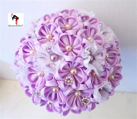 Wedding Bouquet Kanzashi Tutorial by Japanese Kanzashi Flower Bouquet For By