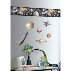 Space Wall Stickers Kids Borders Space Travel Boys Wall Stickers Roommates