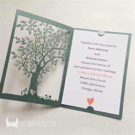 Wedding Invitations Tree by Lace Wedding Invitations Free Shipping