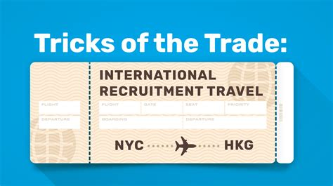 Trick Of The Trade by Tricks Of The Trade International Recruitment Travel
