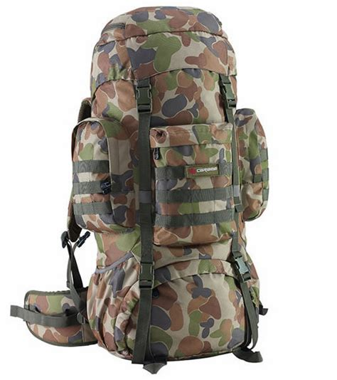 hiking rucksacks caribee platoon 70l auscam camo hiking rucksack