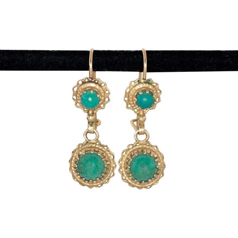 14k gold drop earrings beautify themselves with earrings