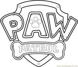 paw patrol logo coloring page free paw patrol coloring