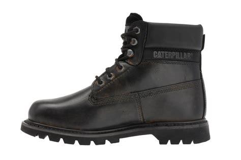 mens cat caterpillar colorado black leather boots 13 15 ebay
