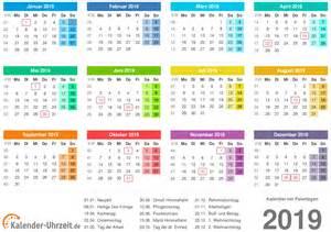 Kalender 2018 Und 2019 Kalender 2019 Zum Ausdrucken Kostenlos