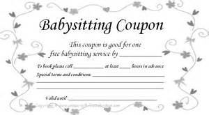 babysitting coupon book template free printable coupons for unique gift ideas
