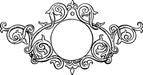 free stock vector ornate vintage frame with clip art