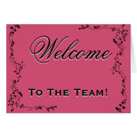 Welcome To The Team Card Template by Welcome Greeting Cards Zazzle Co Uk