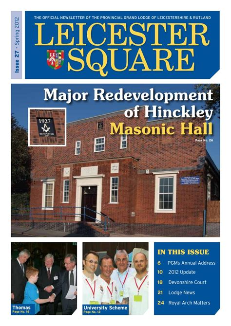 leicester square issue  spring   leicestershire  rutland freemasons issuu