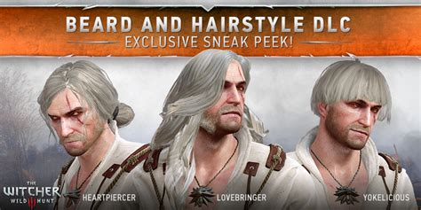 beard and hairstyles witcher 3 the witcher on twitter quot beard and hairstyle dlc get your