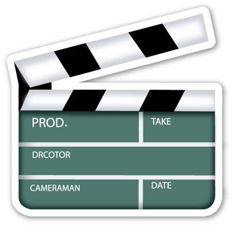 world film camera emoji clapper board