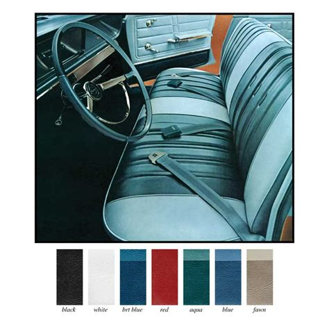 1966 impala parts interior soft goods seat upholstery