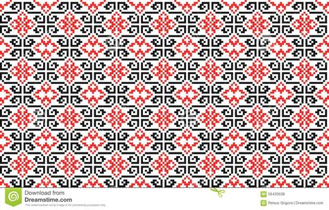 black pattern cdr romanian traditional seamless pattern cdr format stock