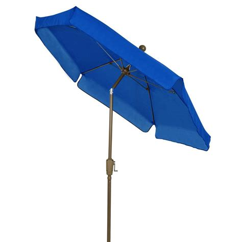 7 Ft Patio Umbrella Fiberbuilt Umbrellas 7 5 Ft Patio Umbrella In Pacific Blue 7gcrcb T Pb The Home Depot