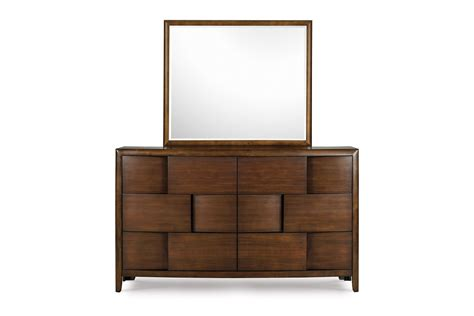 magnussen nova bedroom set nova collection b1428 contemporary bed set in a chestnut