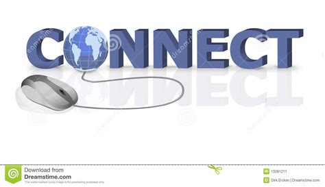 connect to connect connection website stock image