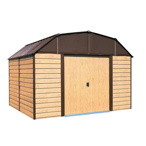 shop arrow galvanized steel storage shed common  ft