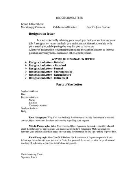 Resignation Letter Growth Handouts Resignation