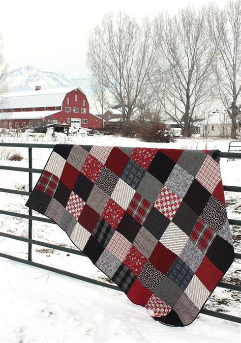 Black Patchwork Quilt - black and plaid flannel quilt diary of a quilter a