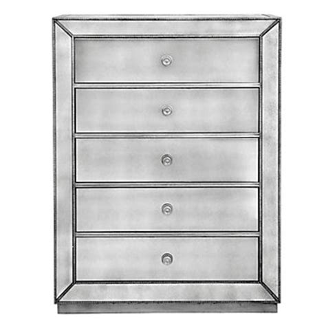 5 Drawer Mirrored Chest by Omni Mirrored 5 Drawer Chest Stylish Mirrored Drawers