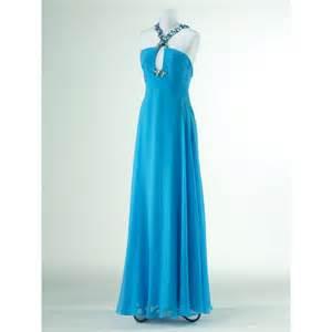 a line criss cross chiffon crystal zipper back long prom dress